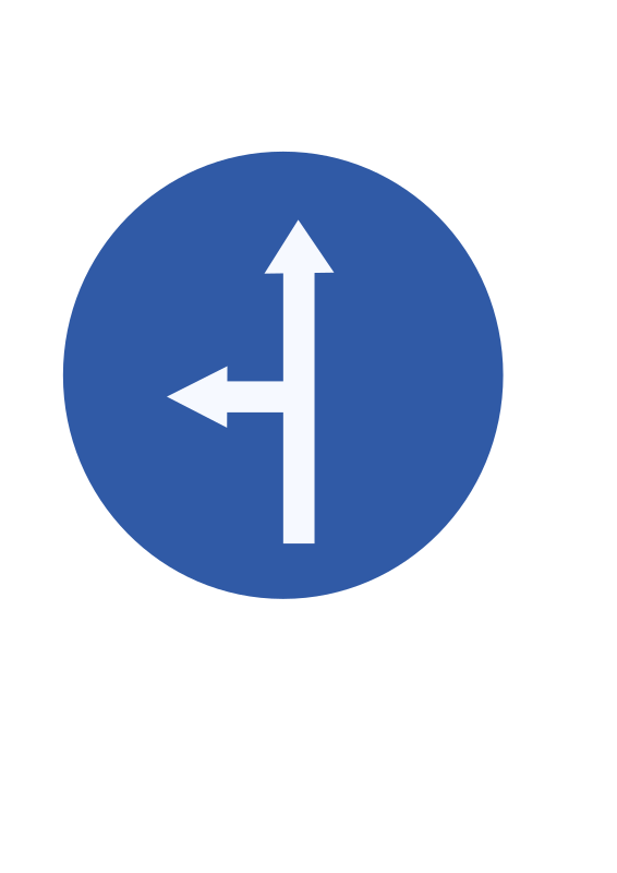 Indian road sign - Ahead or turn left by ksrujana96 - created by swecha developer and contributer Srujana.