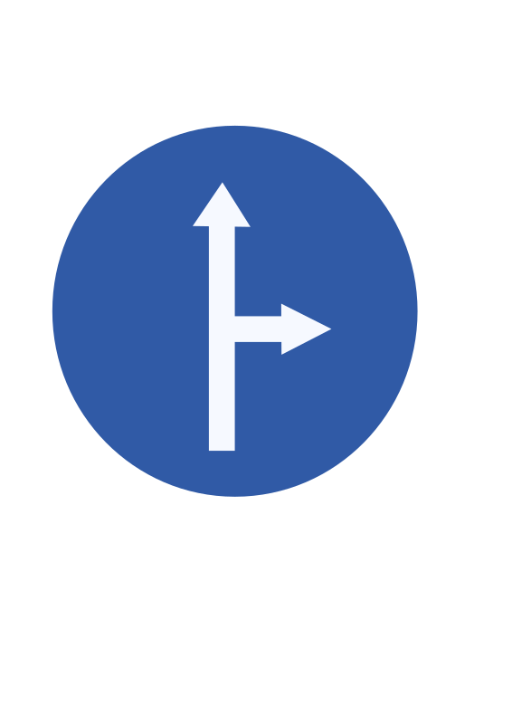 Indian road sign - Ahead or turn right by ksrujana96 - created by swecha developer and contributer Srujana.