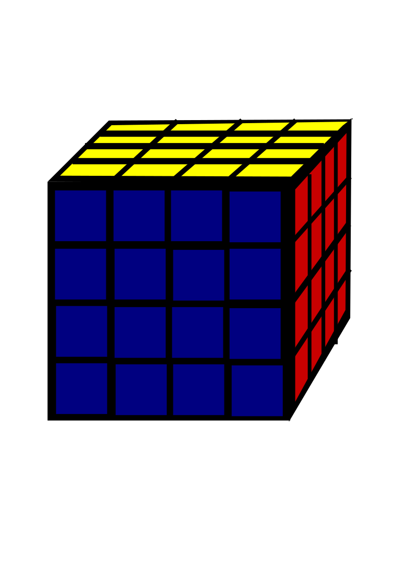 Rubic Cube 4x4 by ksrujana96 - created by swecha developer and contributer Srujana.