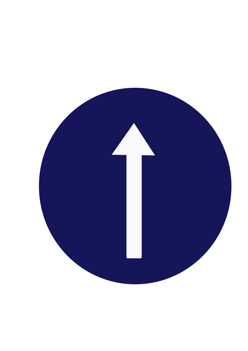 Indian road sign - Compulsory ahead only by ksrujana96 - created by swecha developer and contributer Srujana.