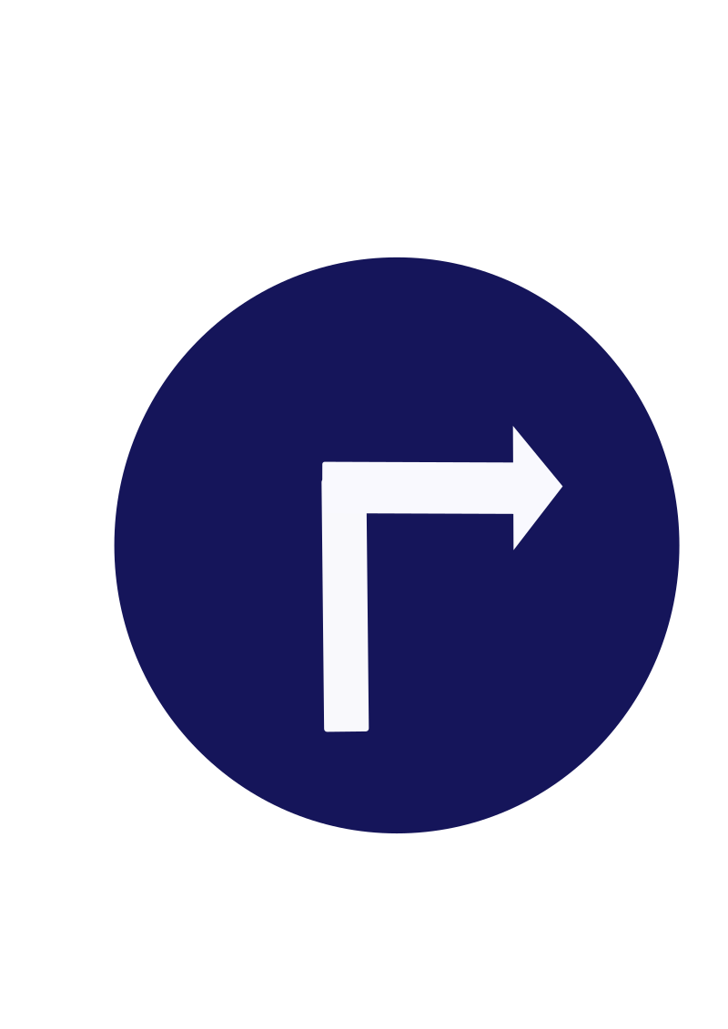 Indian road sign - Compulsory turn right by ksrujana96 - created by swecha developer and contributer Srujana.