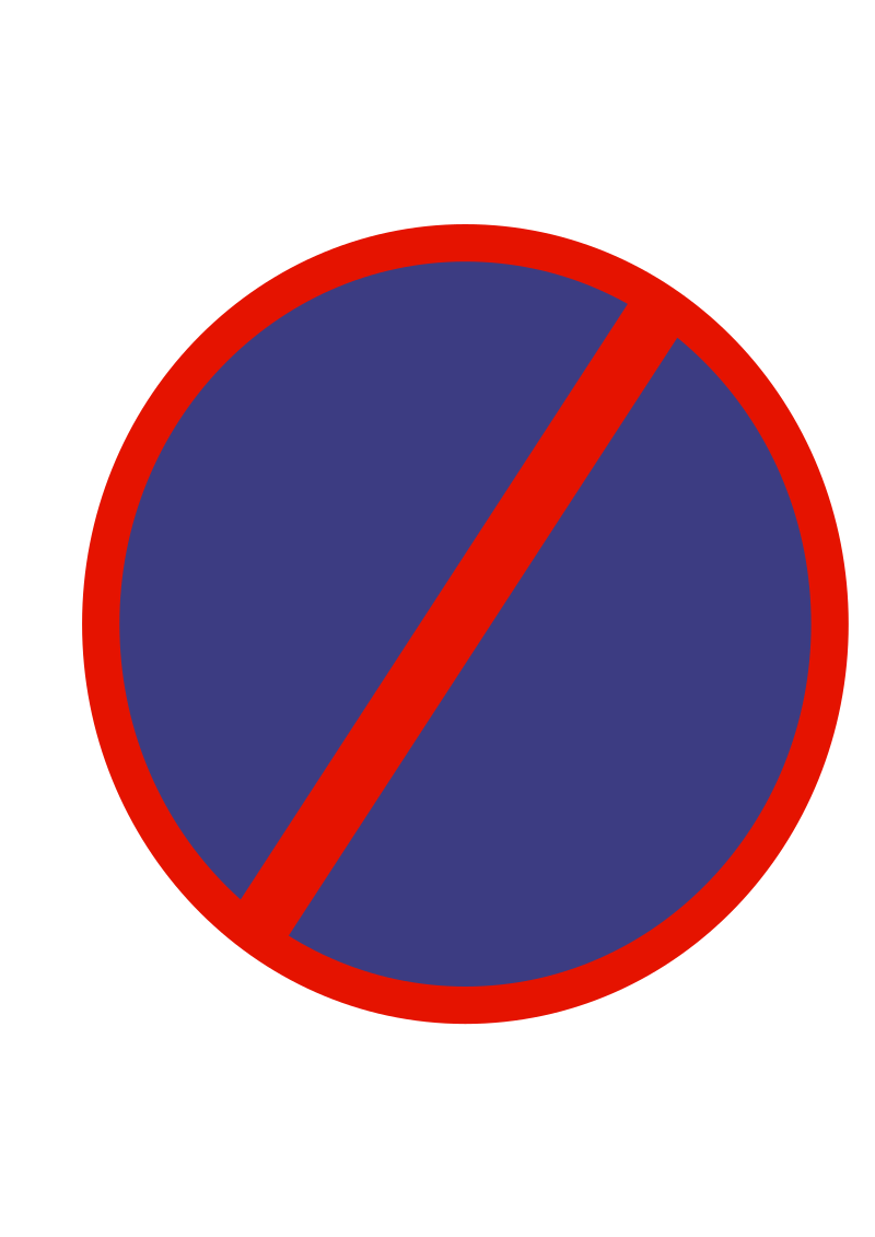 Indian road sign - No parking by ksrujana96 - created by swecha developer and contributer Srujana.