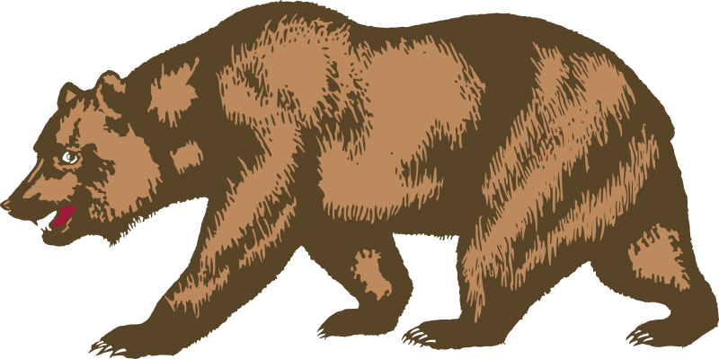 Flag of California - Bear by DevinCook - This is the bear from the Flag of California. The bear was rendered directly using the official drawing found in the law.