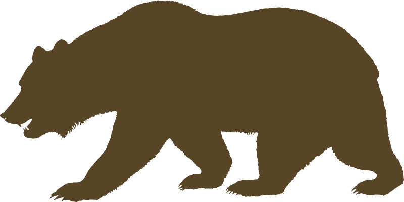 Flag of California - Bear (Solid) by DevinCook