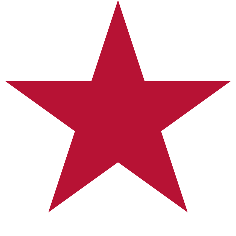 Flag of California - Star by DevinCook - This is the star from the Flag of California. Its a standard 5-point star. This graphic is the official shade of red.