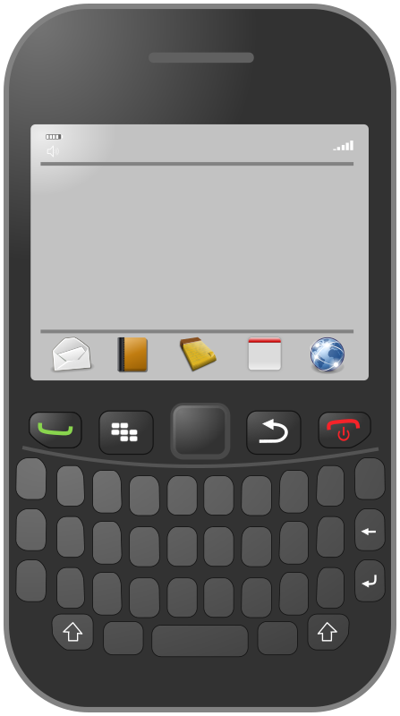 Smartphone with azerty keyboard by cyberscooty - A generic smartphone with a keyboard.