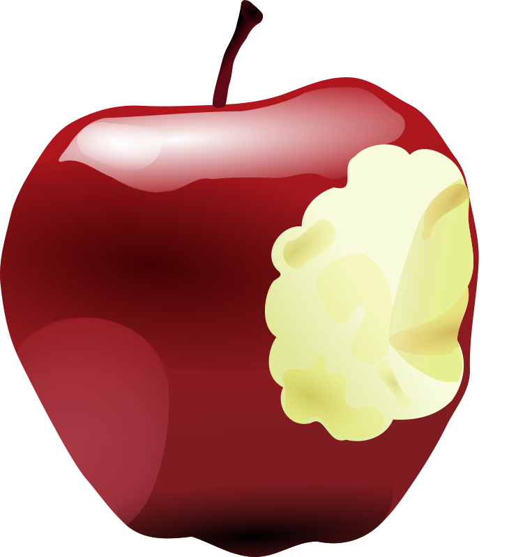 Apple with Bite by BrotherE - A shiny red delicious apple with a bite out of it.