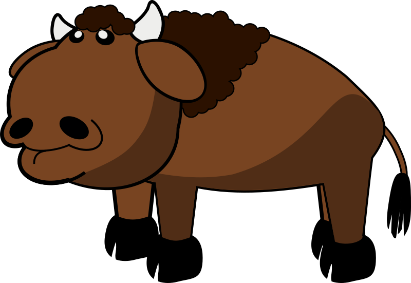 Bison by spacefem - American bison (buffalo) in brown
