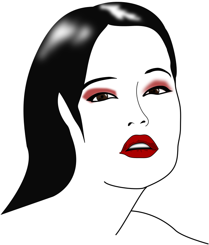 Clipart - Model Makeup