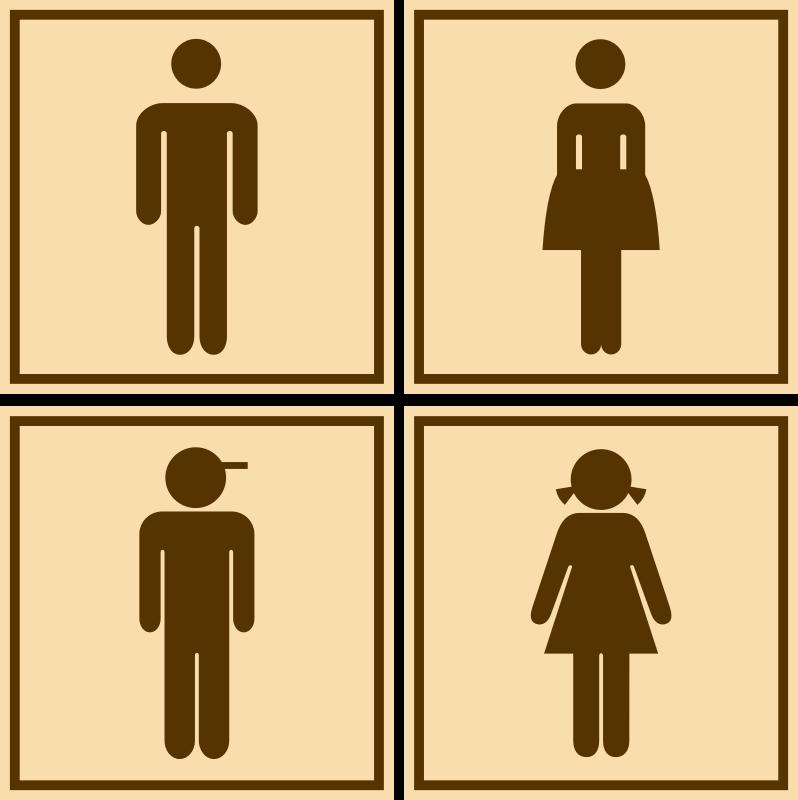 Clipart  wc -> Banheiro Feminino Vetor