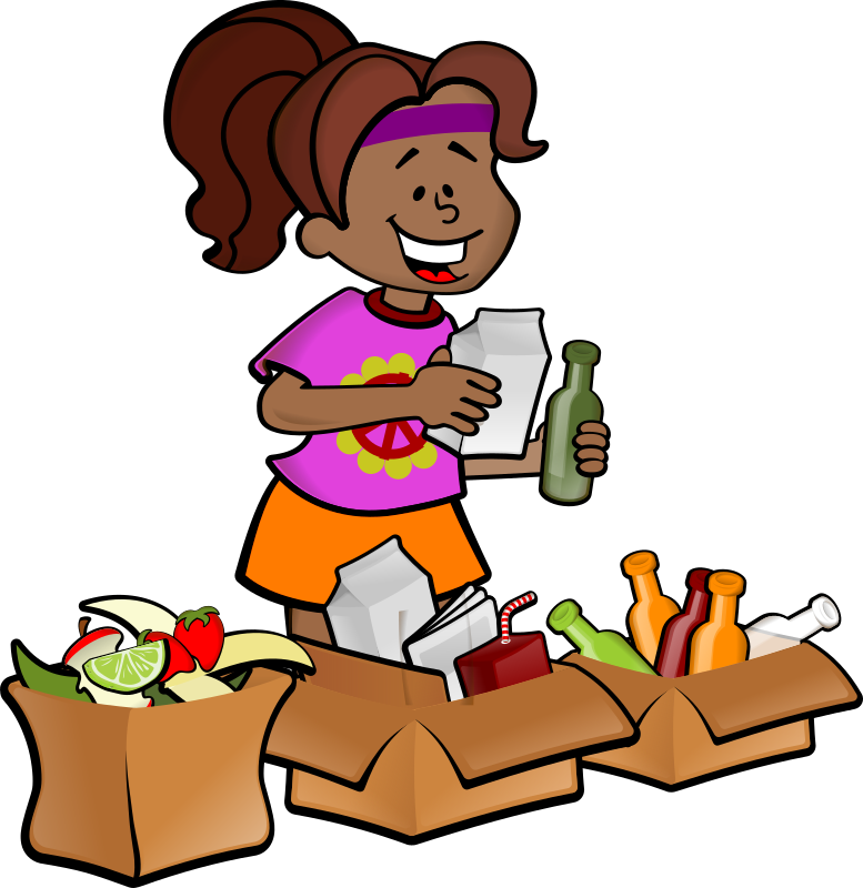 hippie_separate by XeNaDiCtA - a girl recycling waste