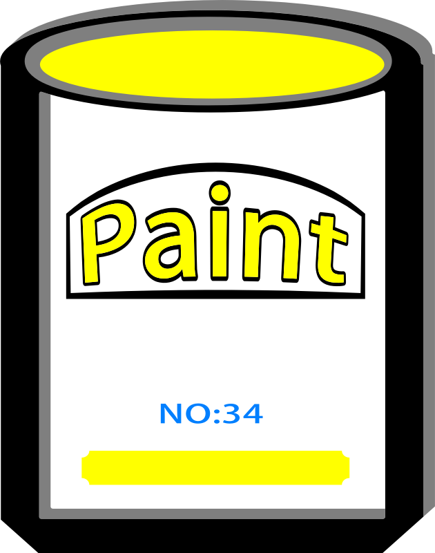 Paint can yellow no34 by bobby520 - Paint can yellow no34