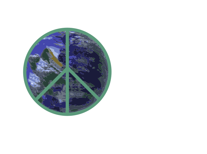 Peace on Earth Logo by Fractalbee - Peace on Earth  Sign with an Eco green touch.