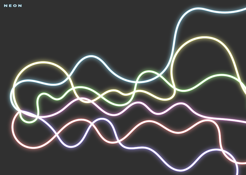 Neon Abstract Desgin by mi_brami - Abstract design with neon-like curved lines