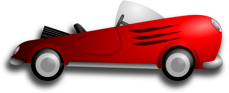 Classic Retro Sport Car by Merlin2525 - A Merlin2525 original creation. A classic retro red convertible sport car. Drawn with Inkscape.