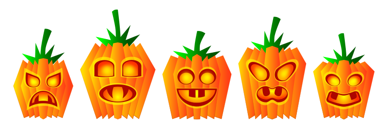 Halloween Pumpkins by Viscious-Speed - set of halloween pumpkins