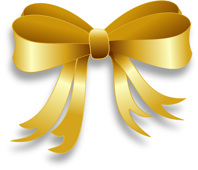 Ribbon Remix by Merlin2525 - A Gold Ribbon Remix. The shading effect was achieved by using gradients.