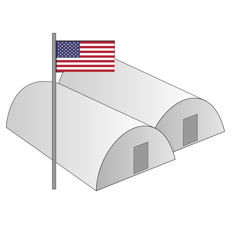Barracks by Tavin - A simple Clipart of US Barracks