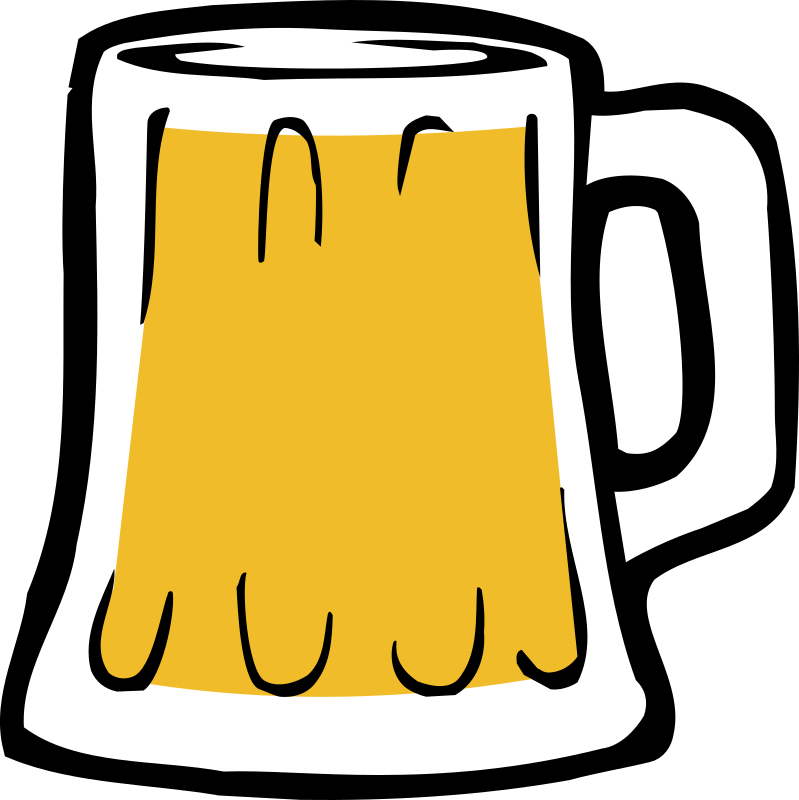 Fatty Matty Brewing - Beer Mug Icon by fattymattybrewing - Color illustration of a beer glass, mug style artwork which I created for use on my homebrewing site's logo