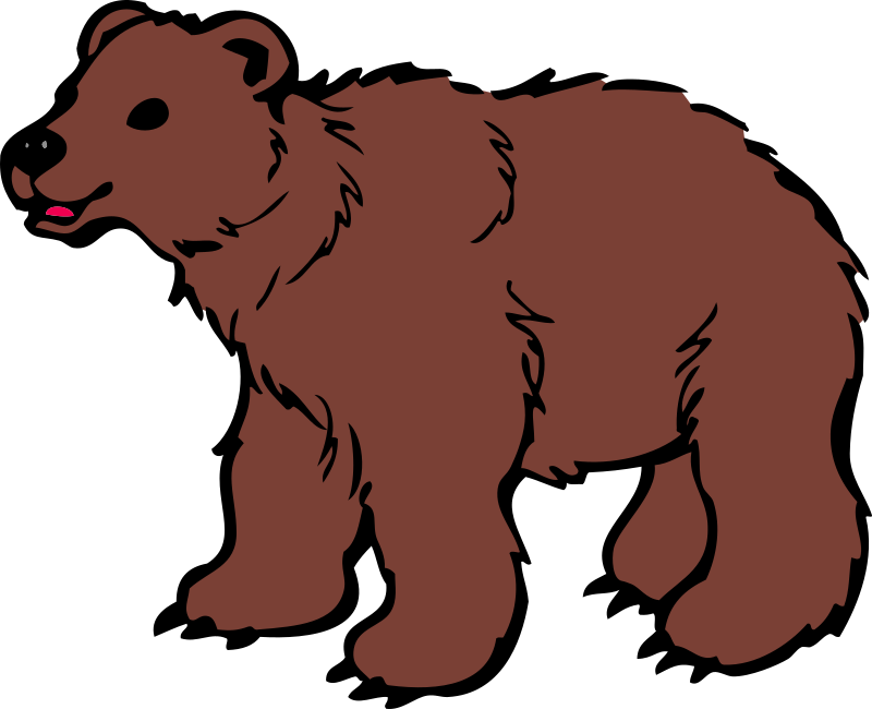 Free cartoon brown bear clipart illustration image