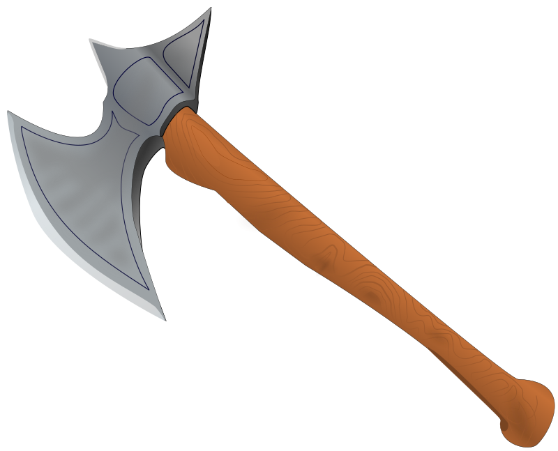 Battle axe medieval by StefanvonHalenbach - Photorealistic medieval axe.