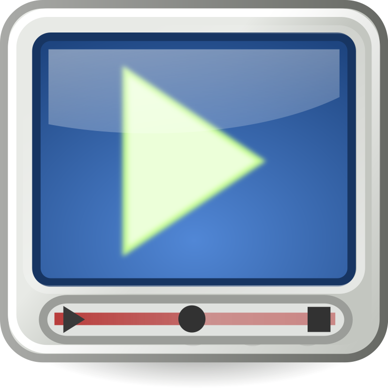 Tango-styled video player icon by flooredmusic - A video player icon stylized to meet the Tango open-icon standards.