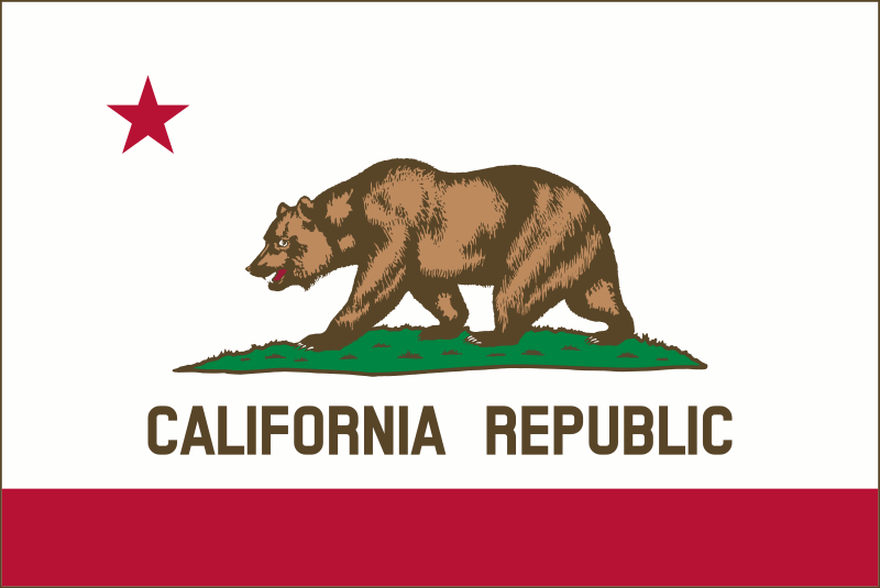 Flag of California (thin border) by DevinCook