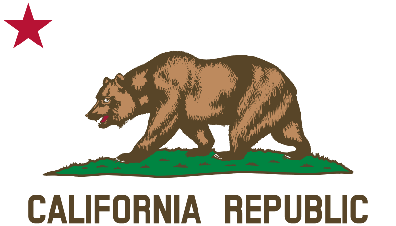Flag of California (Bear, Star, Plot, Title) by DevinCook - This is the bear, grass plot,star, and text from the Fl