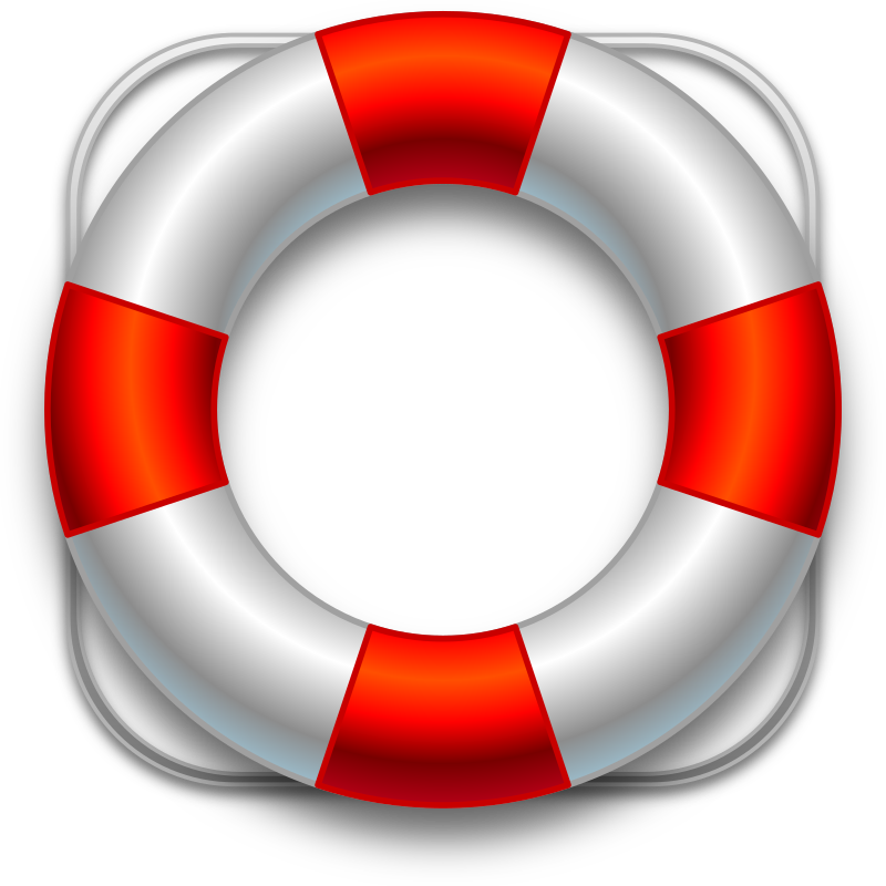 Lifesaver by easy - A red vector lifesaver belt clipart created in Inkscape 0.48.