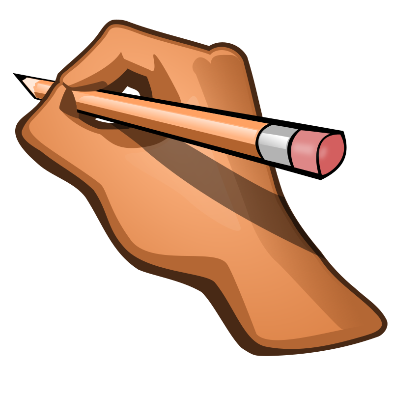 clipart - edit hand holding pencil