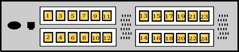 24Port_SANSwitch by Karthik - drawing of a 24 Port Switch
