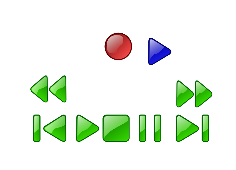 Deck or VCR button by czara1 - a many buttons of deck or vcr player