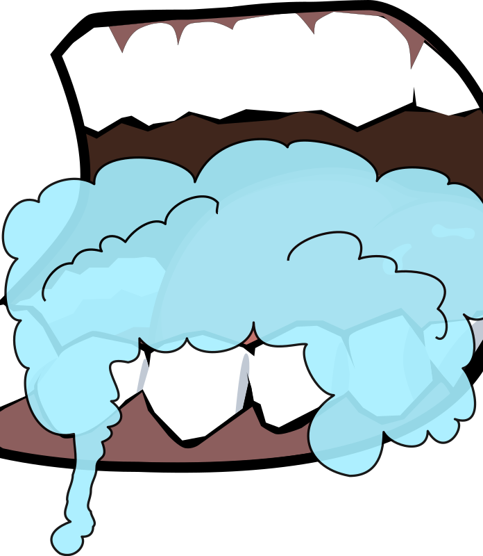 Mouth Foaming 1 by qubodup - a foaming mouth