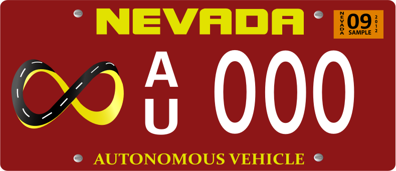 Vehicle Registration Plate With Screw