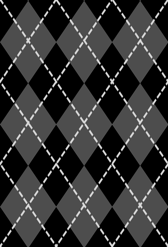 Argyle by spacefem - Gray repeating argyle pattern