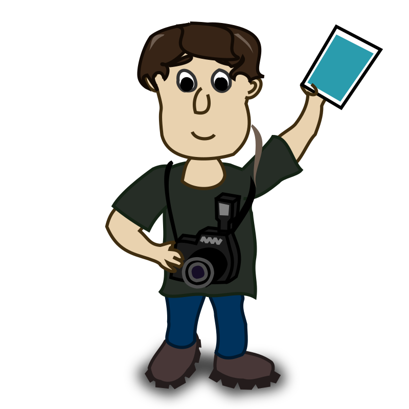 Clipart - boy photographer