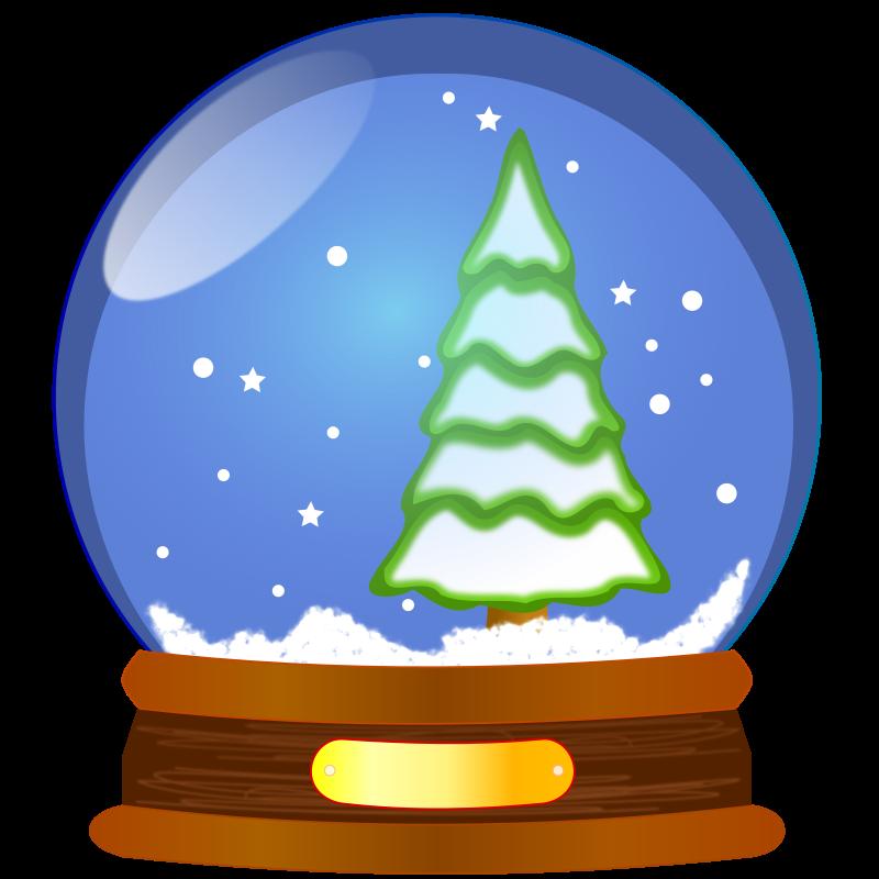 snow globe by uwesch - Snow globe with christmas tree