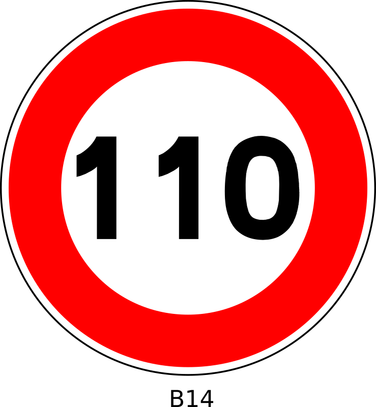 B14-110 by Desmoric - Road, Sign, France