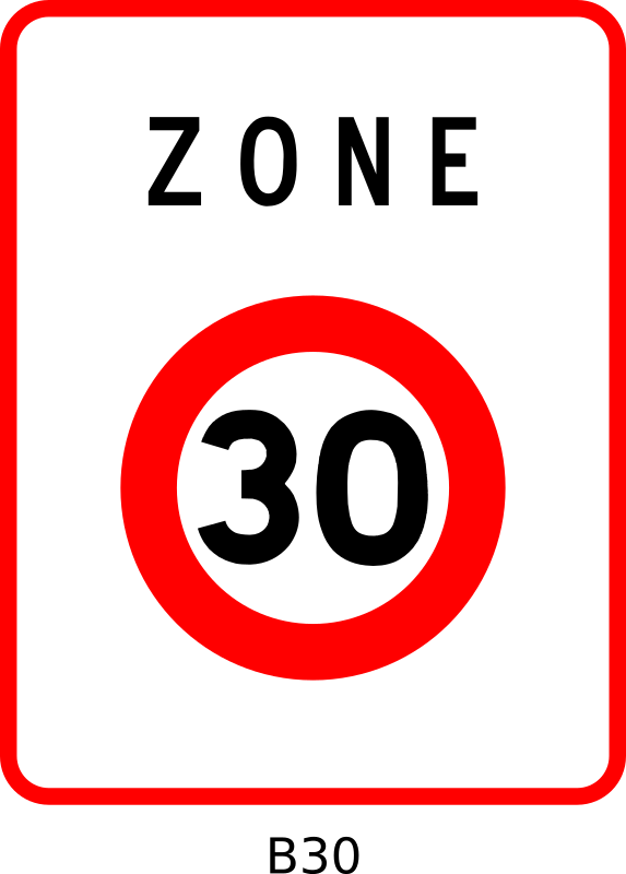 B30 by Desmoric - Road, Sign, France