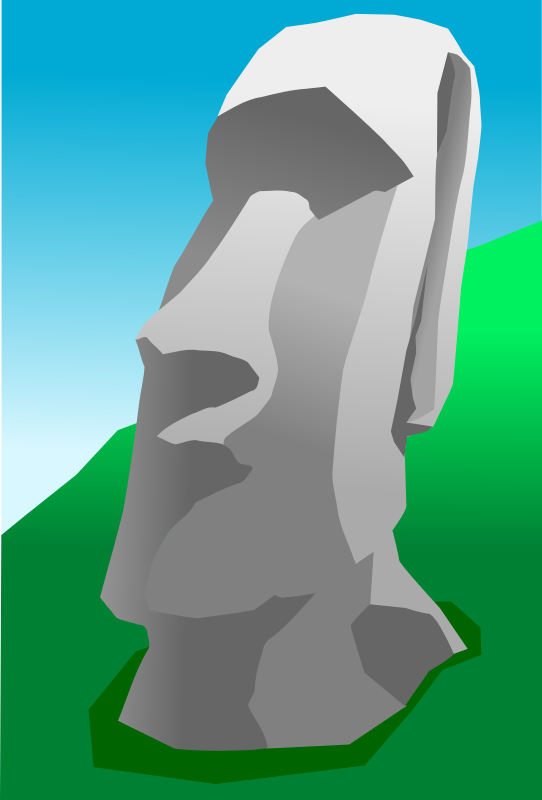 Moai by opk - Easter Island human figure carved from rock.