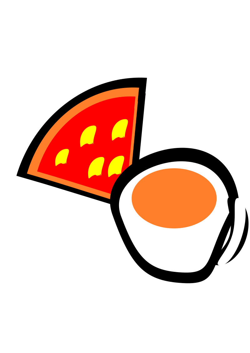 Clipart - pizza and coffie: https://openclipart.org/detail/173467/1354365088