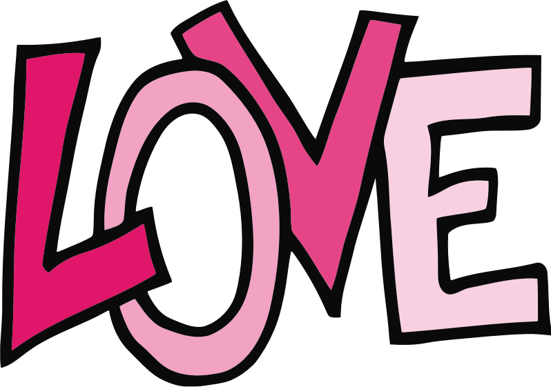 Love Text by TikiGiki - lettering: LOVE