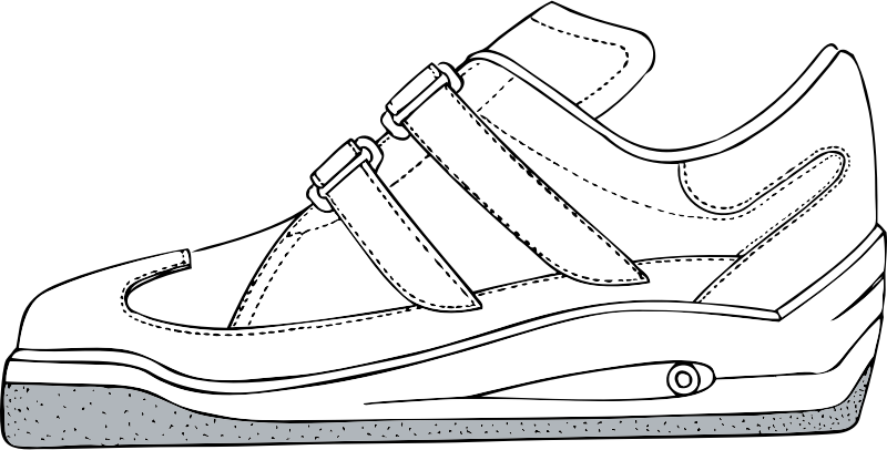 gym shoe by johnny_automatic - an athletic or gym shoe from a U.S. patent drawing