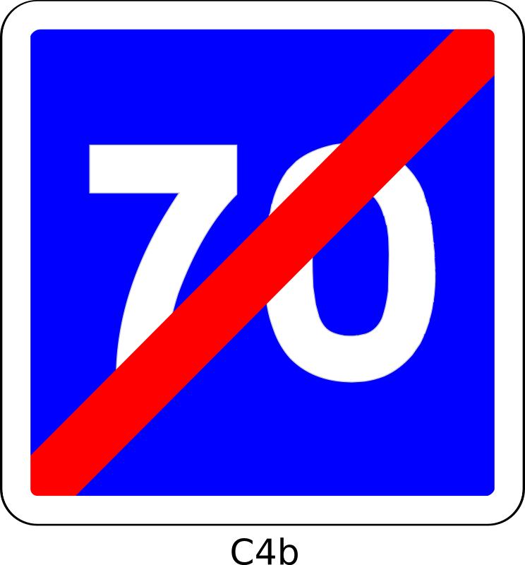 C4b_70 by Desmoric - Road, Sign, France