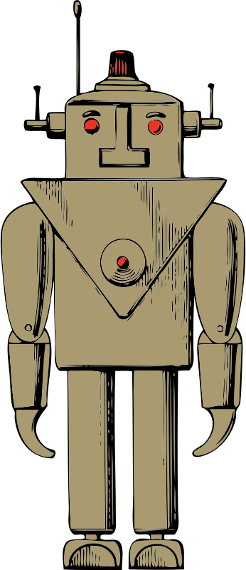 robot by johnny_automatic - a mid-20th century idea of a robot from a U.S. patent drawing