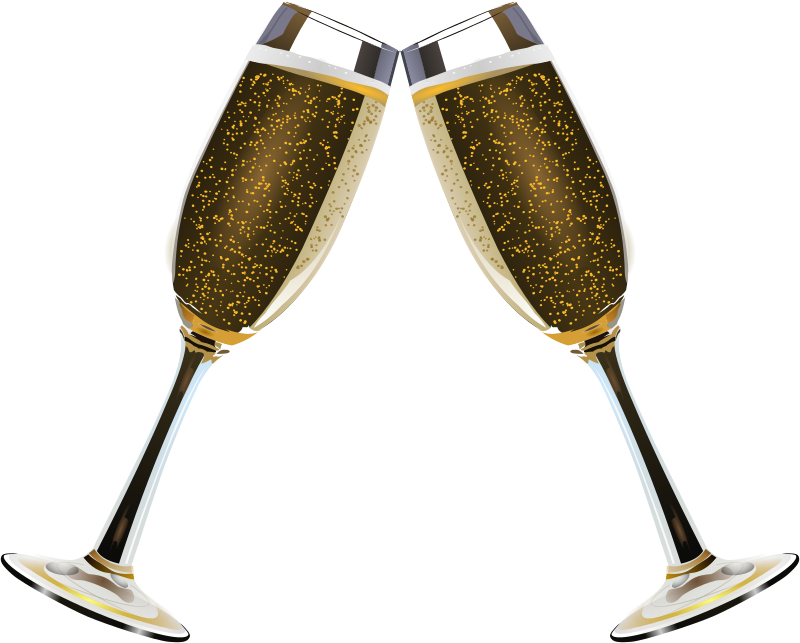 Champagne Glass Remix 3 by Merlin2525 - A toast with 2 champagne glasses.