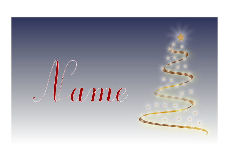 Weihnachtskarte mit Name als Volage by ric5sch - christmas card template