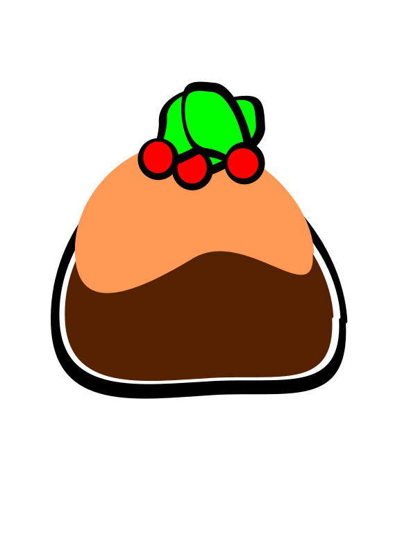 christmass pudding by PeterBrough - A simple design of christmas pudding.