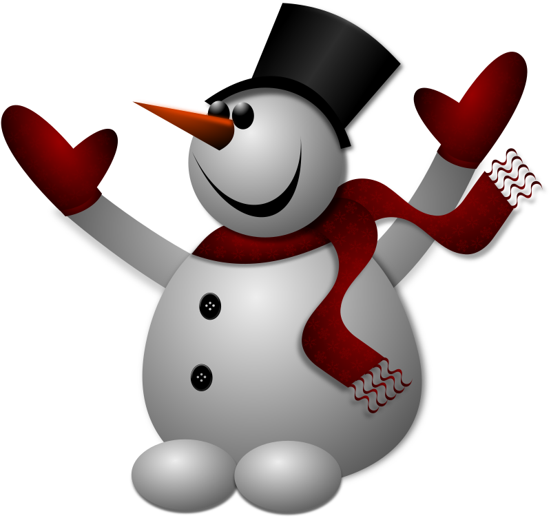 Happy Snowman 2 by Merlin2525 - A Merlin2525 Original Artwork of a Happy Snowman.