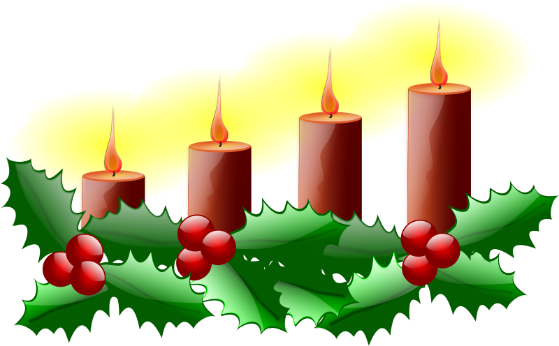 "Fourth Sunday of Advent by Fuchur - this is a remix of inky2010's ""CHRISTMAS 0010"", a ""linear"" Advent wreath. As this is my first time (re)creating a vector graphics, you may find a lack of details like grouping etc."